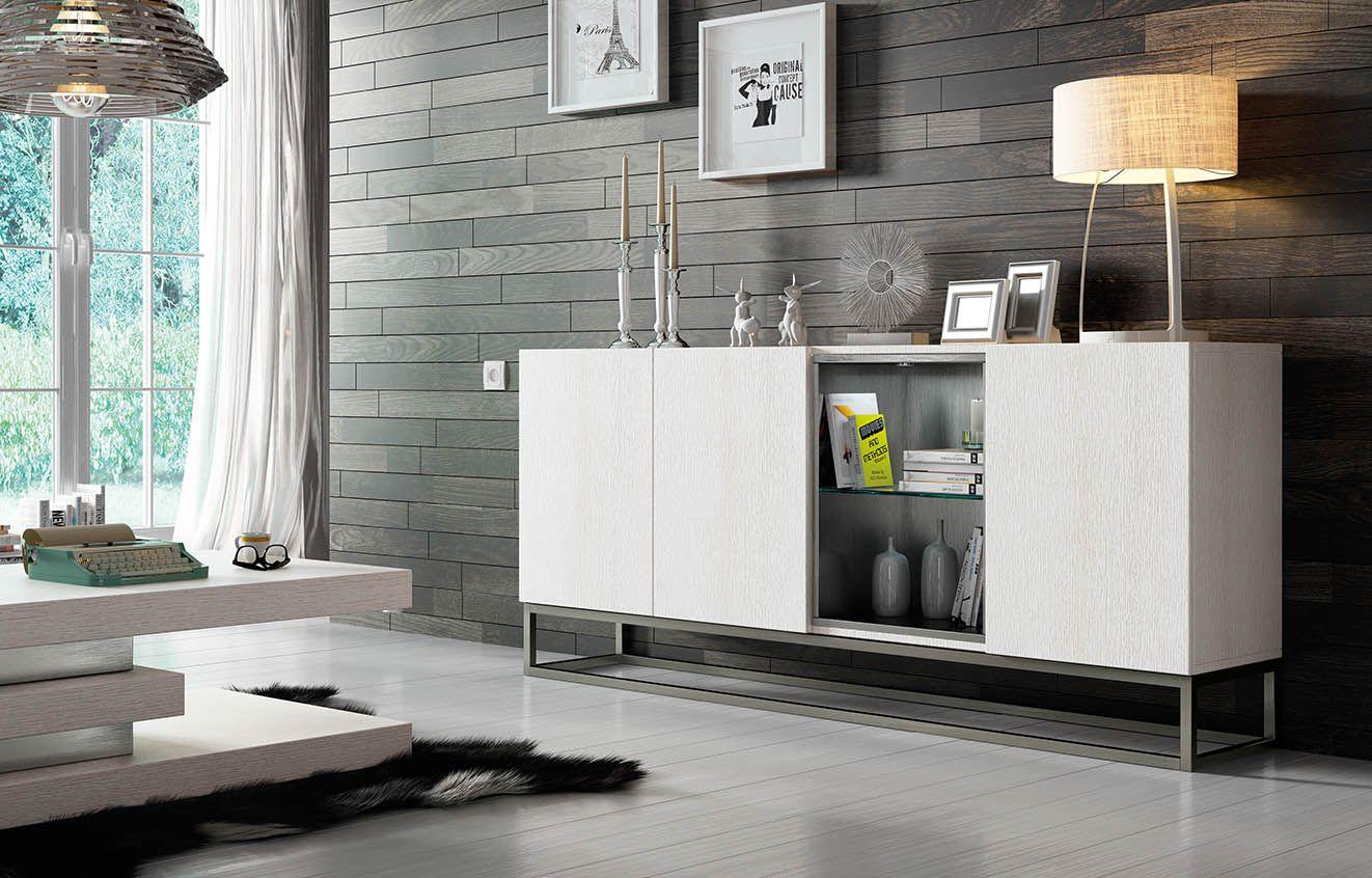 Aparador Roble Blanco Diseño Moderno