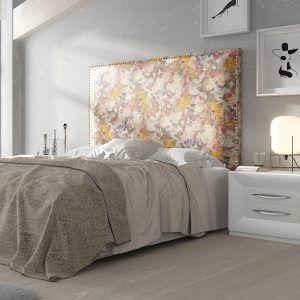 Dormitorio Cabecero Tapizado Tachuelas