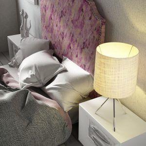 Dormitorio con Cabecero Tapizado
