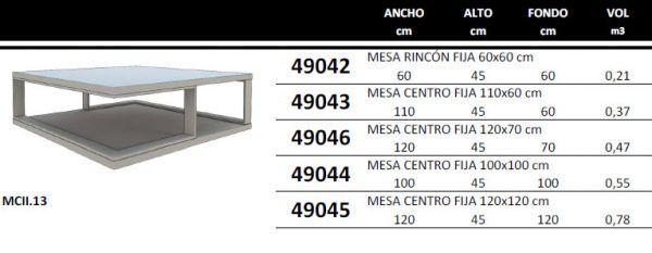 Center Table Measurements