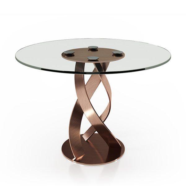 Mesas comedor cristal redondas