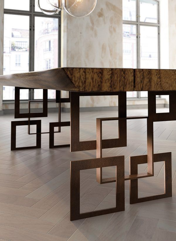 Dining tables detail