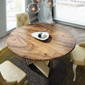 Round dining tables detail