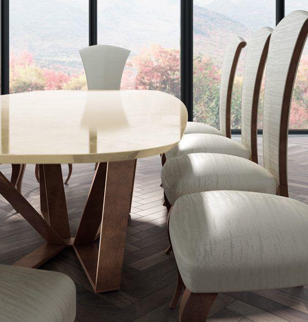 Mesas comedor marmol detalle