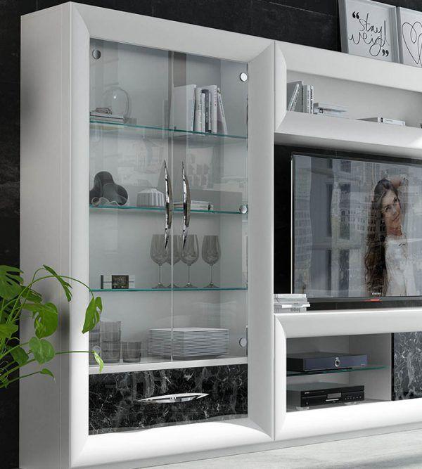 Modern living room display case