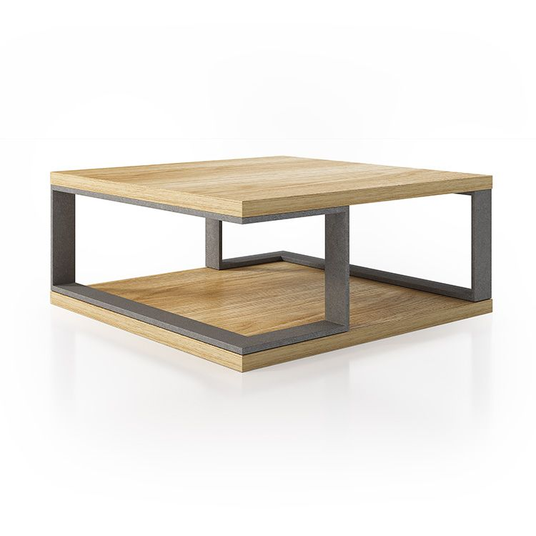 Design coffee table with wood finish