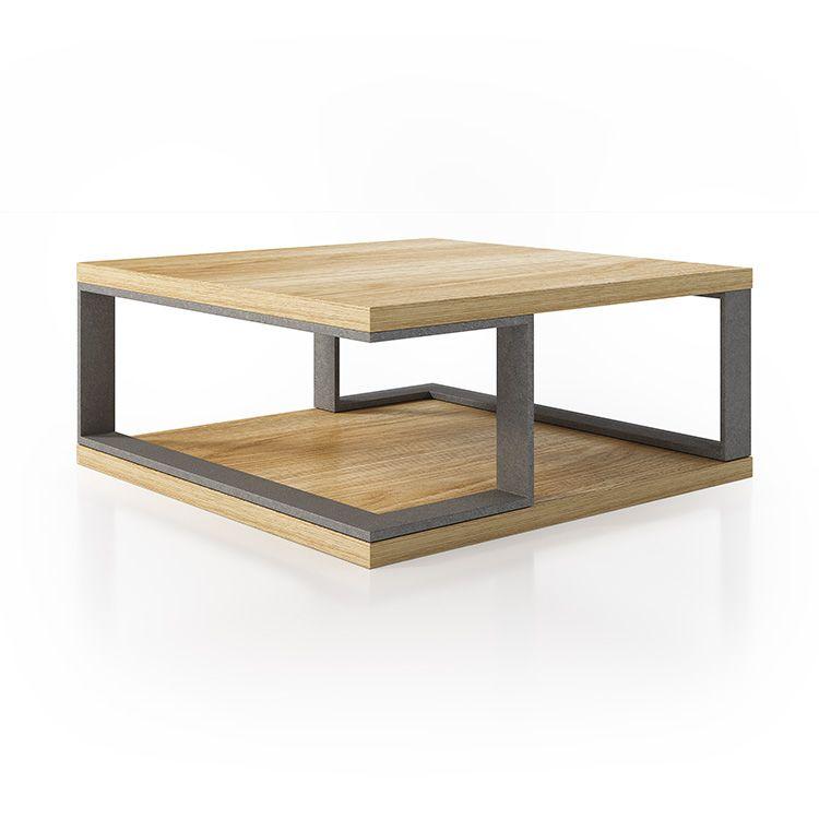 Mesa de centro de diseño con terminacion en madera