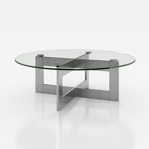 Mesas de centro de cristal redondas