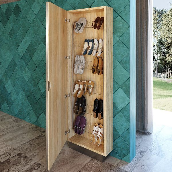 Shoe rack with mirror Detail