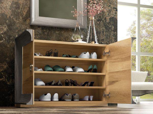 Shoe rack hall detail