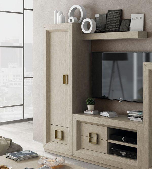 Narrow living room display case