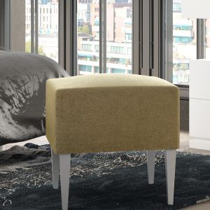 Pouf and bedroom bench