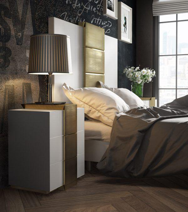 Cabecero y Mesita Dormitorio Promocion