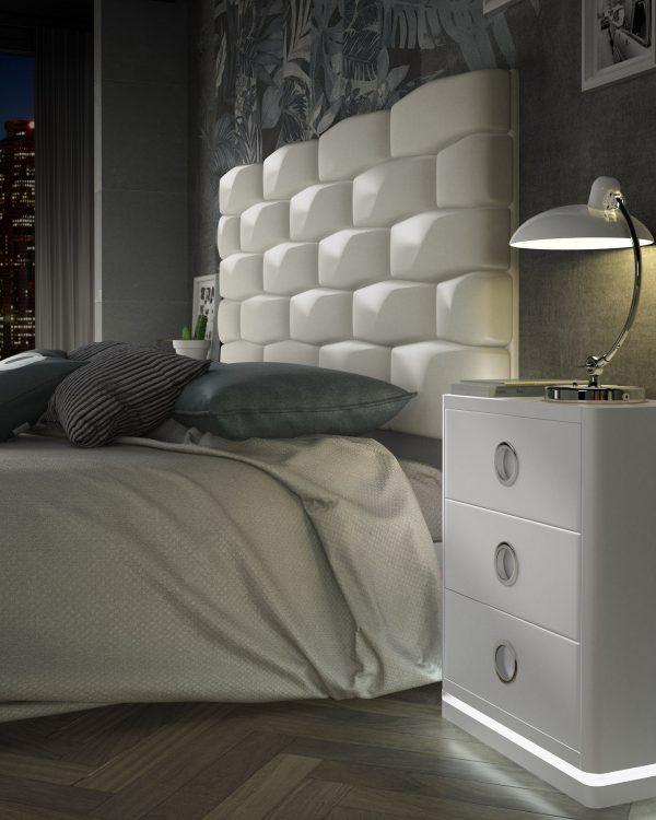 Cabecero Tapizado Dormitorio Completo Promoción