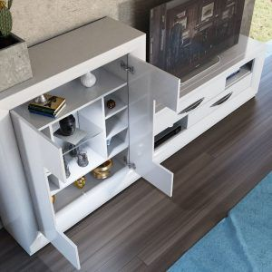 Mueble TV y vitrina Serik