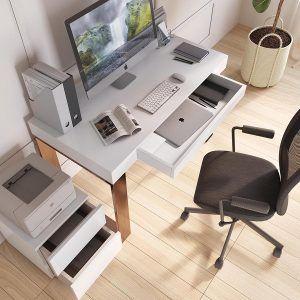 Mueble Escritorio de Diseño con cajon y cajonera extra