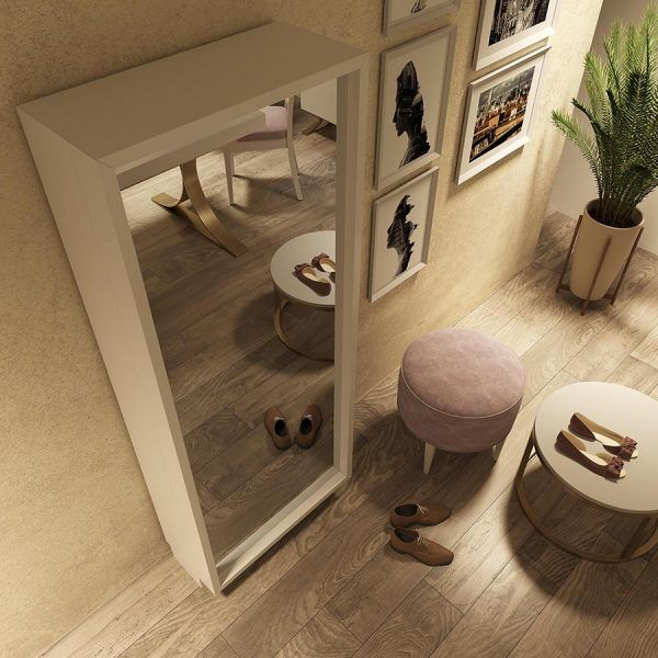 Mueble Zapatero con Espejo de Diseño