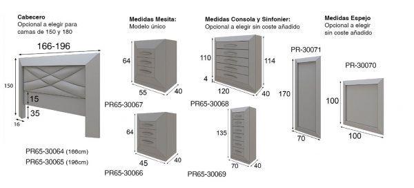 medidas dormitorio pr65