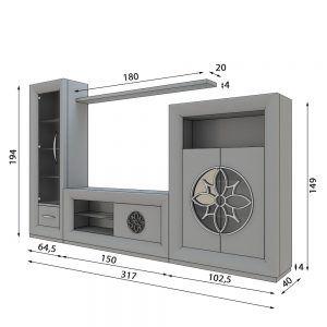 Medidas Modular Tv