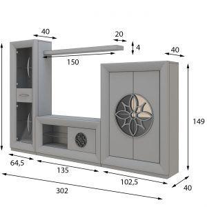 medidas composición tv salon