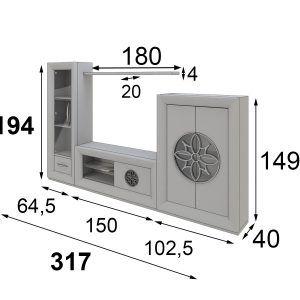 medidas composición salón