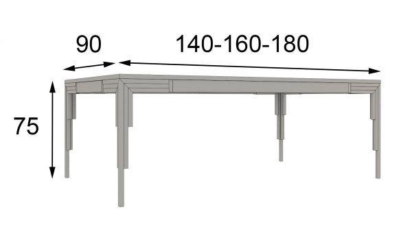 mesa de comedor medidas
