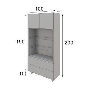 measures Modern living room display cabinet