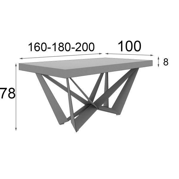 Medidas Mesa de Diseño Salon comedor
