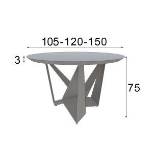 Design round table measures