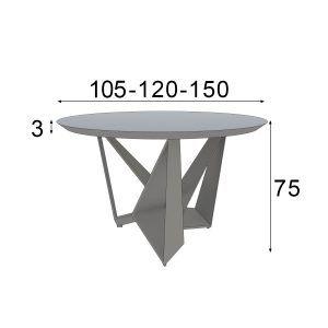 Medidas Mesa redonda de diseño