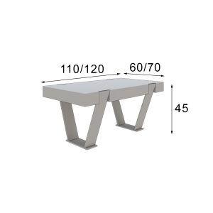 medidas mesa de centro moderna