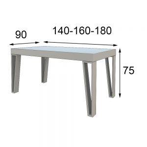 Medidas Mesa moderna