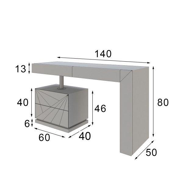 modern dressing table measures