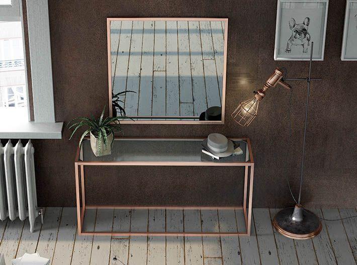 Consolas y espejos minimalistas
