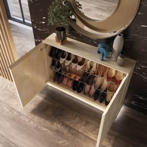 Mueble zapatero moderno abierto