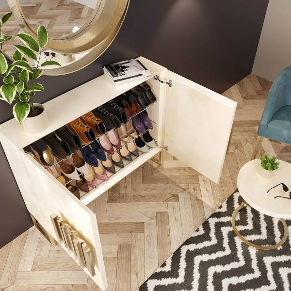 designer shoe rack